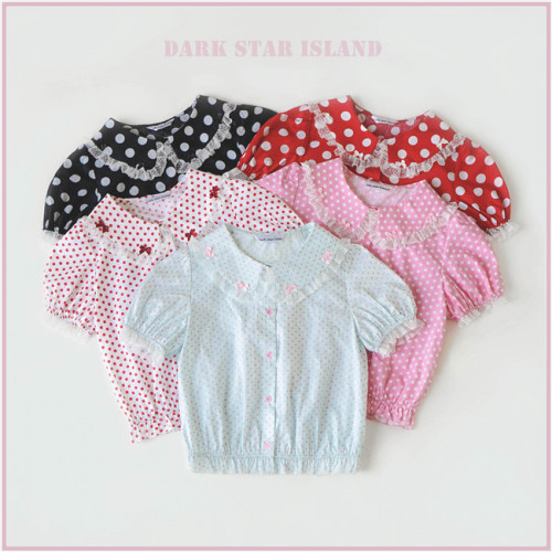 Sweet Summer Cotton Polka Dotts Lolita Blouse -Pre-order