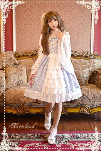 Neverland Lolita -Maiden in May- Lolita High Waist JSK with Open Front Design