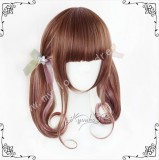 Girl's Sweet Brown Highlights Bobo Lolita Wig