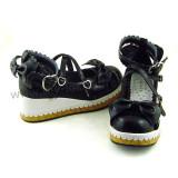 Black White 2 Colors Lolita Flat Shoes