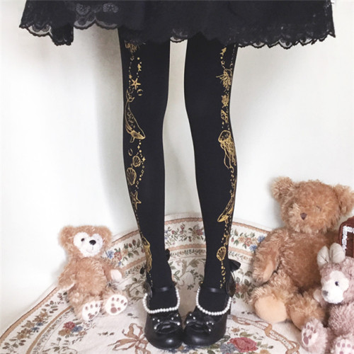 Ruby Rabbit ~Marine Tank Thin Lolita Tights -Pre-order