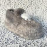 Sweet Grey White Furs Lolita High Platform