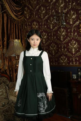 Anna's Secret ~Magic Academy.Hogwarts~ Embroidery JSK Wine&Gold Embroidery XXL