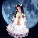 Starry Sky Bunches~Classical Dolls Lolita OP-Ready Made