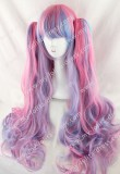 Long Sweet Pink Blue Purple Blended Babydoll Lolita Wig