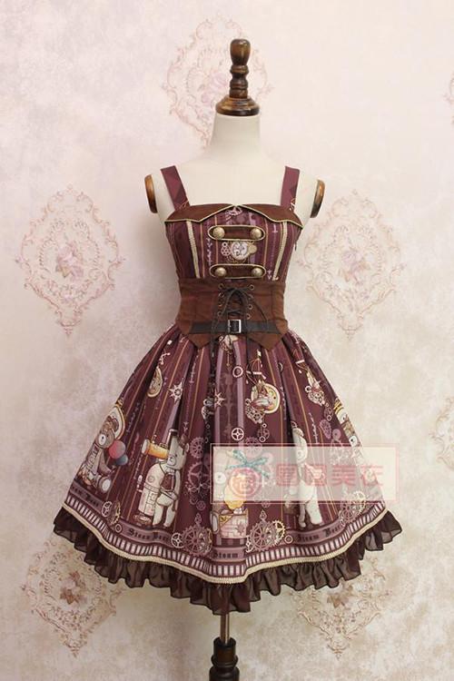 Alice Girl~ Steampunk Bear&Gear~ Lolita JSK
