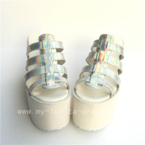 High platfrom Silver Glossy Lolita Sandals