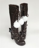 Sweet Pink Bows Lolita Boots