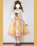 Doll Bear~ Sweet Fake Two Pieces Lolita OP -Ready Made