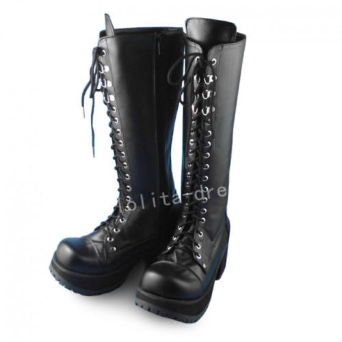 Elegant Black High Shaft Lolita Boots