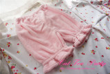 Cat Tea Party Coral Velvet Winter Lolita Bloomer