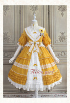 Alice Girl ~Sunflower Classic Lolita Short Sleeves OP -Pre-order