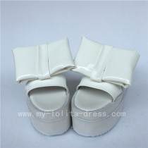 Sweet High Platform White Glossy Lolita Sandals