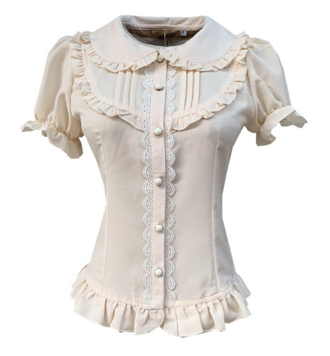 2019 New Arrival Sweet Short Sleeves Lolita Blouse