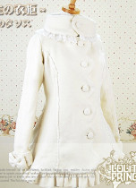 Lolita Princess Warm Winter Lady High Collar Short Coat