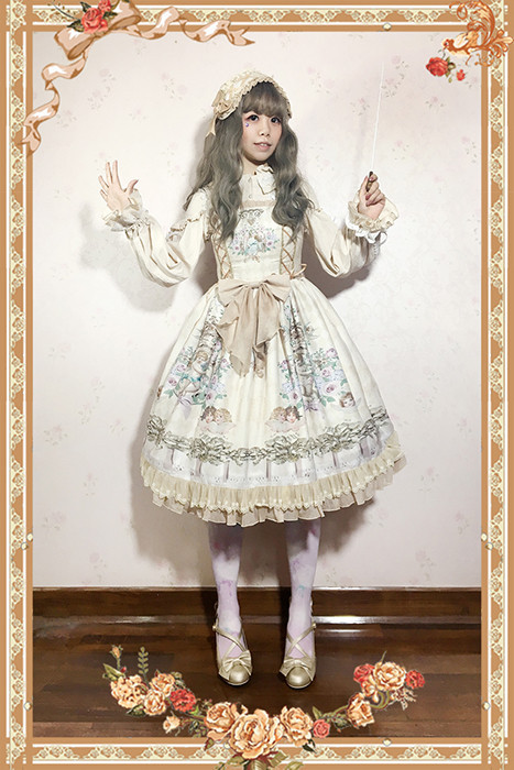 Angel Symphony ~ Lolita Printed JSK Dress