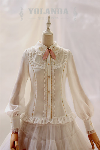 Yolanda -Benny's Herbology- College Style Lolita Embroidery Blouse -Ready Made