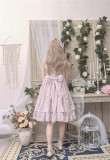 The Kittens In The Frame~ Sweet Lolita Printed JSK High Waist Pink Size S - In Stock