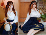 White College Style Lolita Long Sleeve Blouse