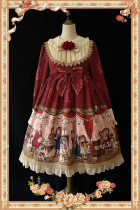 Doll Izutsu~ Classic Lolita Long Sleeves OP Dress-Ready Made
