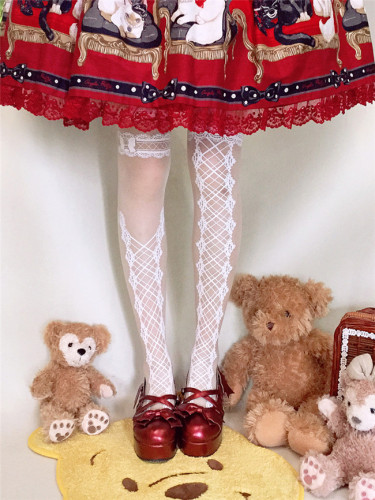 Ruby Rabbit ~Sweetheart~ Thin Lolita Tights -Ready Made