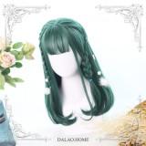 Dalao Home Cheryl Dark Green 40cm Lolita Wigs