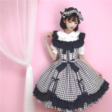 Little Dipper Strawberry Mousse~ 2018 Gingham JSK In Stock