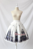 Black Cross Church Gothic Lolita Skirt -Ready Made