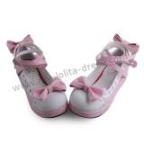 Sweet Princess Shoes Bows Hearts White Trim