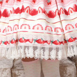 Strawberry Cake Lady Lolita Skirt