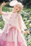 Sakura Carp Heavy Hand-made Lolita OP Set -Ready Made