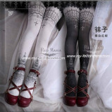 Hakodate Church~ Gothic Double-sides Printed Lolita Tights
