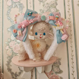 Alice Girl ~The Kitty's Tea Party Sweet Lolita OP/Salopette -Pre-order Black OP M - In Stock