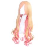 Ciel Queen Sweet Yellow Pink Lolita Curls Wig