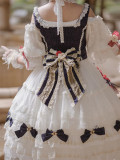 Little Dipper ~White Snow Lolita Vest + OP Set Short/Long Version -Pre-order