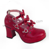 Three Bows Lolita Shoes