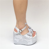 Charming White Matte Lolita High Platform Sandals -  Three Kinds Of Styles