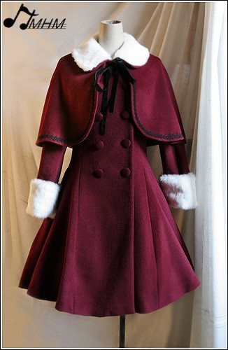 Classical Lolita Long Coat and Cape Four Colors