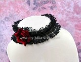 Vampire Party Night Rose Lace Lolita Neck Belt