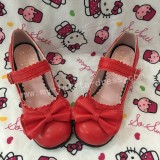 Black Bow Hearts Lolita Shoes