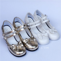Double Straps Lolita Bows Shoes