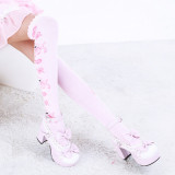 Sweet Cartoon Prints Lolita High Socks - IN STOCK