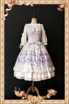 Maid's room~ Sweet Printed JSK Dress+Headbow -Ready In Stock