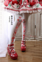 Strawberry Garden~Sweet Printed Lolita Tights