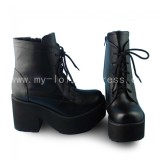 Sweet Black Heels Lolita Boots