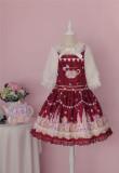 Sugar Carnival- Gold-stamping Pure Cotton Lolita Salopette