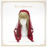 Sweet Dreamer Lace Beads Headbow and Veil Sets