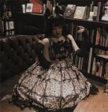 Diamond Honey ~Leopard Cat Gothic Lolita JSK -Ready Made