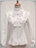 Vintage Thickening Thermal Stand Collar Lolita Blouse