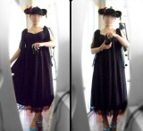Surface Spell Chiffon High Waist Lolita Dress - Multiple Colors - OUT